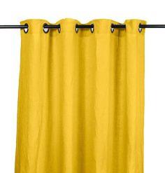 Harmony - Rideaux en lin lavé Viti - Jaune Absynthe - 140x280 cm - Home Beddings and Curtains