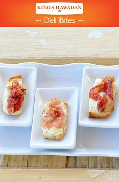 Ono and easy! Deli bites are the perfect snack or appetizer. What are you waiting for? Yummy Appetizers, Appetizer Recipes, Snack Recipes, Cooking Recipes, Hawaiian Sweet Breads, Lunch Snacks, Lunches, Good Food, Yummy Food
