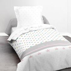 Parure de lit composée d'un Lot housse de couette + taie d'oreiller housse de couette  et coussin 63x63cm