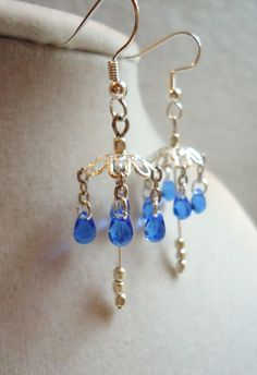 Dainty Bright Silver Umbrella Earrings With by ViperCoraraDesigns, $8.00