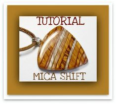 Tutorial Mica Shift Polymer Clay Pendants, Instant Download lesson #1
