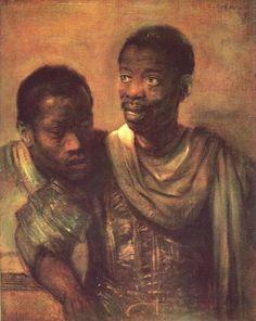Two Negroes, 1661, Rembrandt Van Rijn Size: 77.8x64.5 cm Medium: oil, canvas