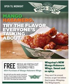 "Employment at Wingstop. Wingstop is a US-based chain of restaurants known for its aviation-themed design and its buffalo style chicken wings. Although decorated with a 's and 's ""pre-jet"" aviation theme, complete with memorabilia, it was founded in in Garland, Texas."