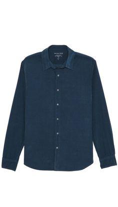 Save Khaki Simple Corduroy Shirt