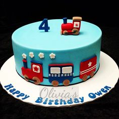Train Themed Birthday Cake