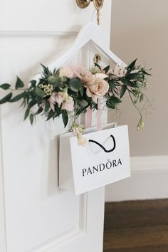 Floral Hanger & PANDORA Gift Bag - Bridesmaid Thank You Gifts from PANDORA