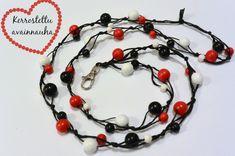 Joulukalenterin 1. luukku - DIY Kerrostettu avainnauha - Punatukka ja kaksi karhua Diy Jewelry, Jewelry Making, Google, Projects To Try, Jewerly, Diy Crafts, Pearls, Christmas Ornaments, Holiday Decor