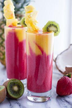Extra Tropical Swirled Fruit Smoothie | halfbakedharvest.com