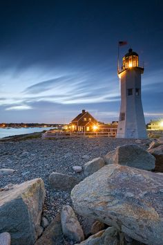 Old Scituate Light also known simply as Scituate Light is a historic lighthouse located on Cedar Point in Scituate, Massachusetts. It was added to the National Register of Historic Places in 1987 as Scituate Light. Beautiful World, Beautiful Places, Tres Belle Photo, Lighthouse Pictures, Beacon Of Light, Water Tower, New England, Seaside, Nature Photography
