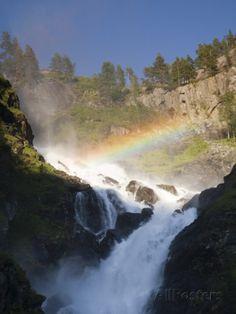 Latefossen Waterfall Near Odda Photographic Print