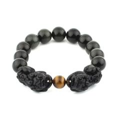 O-stone Natural Obsidian Bracelet with a Pair of Pixius for Attracting Wealth 12mm Grounding Stone Protection O-stone. $35.90. We select the finest natural gem stone across the globe. Together with the jewelry we present you delicate brocade box,exquisite brocade bag,spare string and crystal clean cloth.(The brocade bags of different colors will be picked randomly). Each piece of jewelry is exquisitely handcrafted and polished by our most skilled masters.. Save 40%!