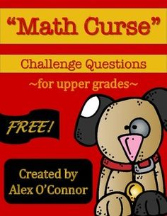 "Get the majority of my math products at a large discount by purchasing them as a part of my Math Mega Bundle.Math Mega Bundle (6th Grade Math)This product is a great break from your everyday math routine! This is a worksheet that includes several of the questions from Jon Scieszka and Lane Smith's book ""The Math Curse."" It is meant to be used as a follow up to reading the book with your elementary or middle school math students.The questions are both challenging and fun for students to try…"