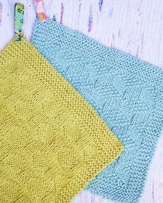 Få strikkeopskrifterne her. Dishcloth Knitting Patterns, Knit Dishcloth, Knitting Stitches, Knitting Blocking, Yarn Bombing, Drops Design, Pattern Making, Handicraft, Home Crafts