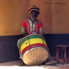 Drummer at Bob Marley's estate.  9 Mile, Jamaica