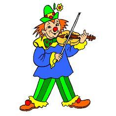 Coloriage Clown Musicien a imprimer