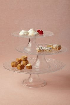 Lucent Hobnail Cake Stands From BHLDN.com