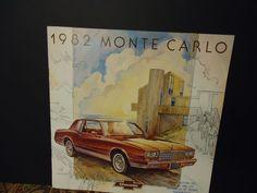 """1982 MOnte Carlo Vintage Dealership Brochure I should of never sold my Monte. """" ("""