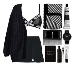 """Sem título #645"" by andreiasilva07 ❤ liked on Polyvore featuring mode, Moschino, Kelly Wearstler, Prada, Rich and Damned, Josie Maran, Alessi, Bobbi Brown Cosmetics, adidas en La Mer"