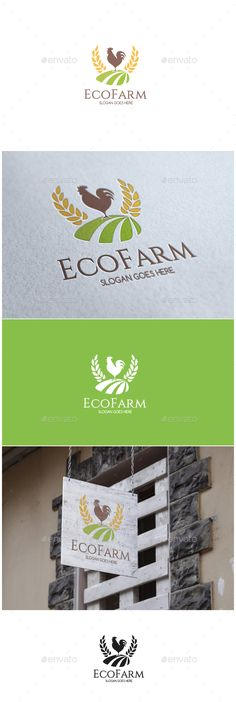 Eco Farm Logo — EPS Template #plant #rooster • Download ➝ https://graphicriver.net/item/eco-farm-logo/18250150?ref=pxcr