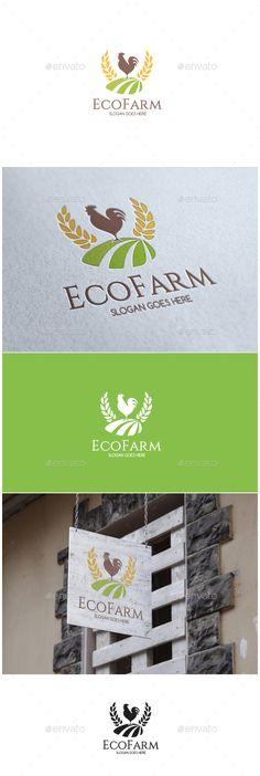 Eco Farm Logo  — EPS Template #plant #rooster • Download ➝ https://graphicriver.net/item/eco-farm-logo/18250150?ref=pxcr