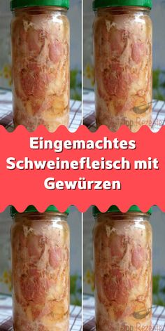 Canned pork with spices - I could eat that very often with bread and a lot of it! Charcuterie, Gourmet Recipes, New Recipes, Donut Store, Best Butter, Healthy Protein, Preserving Food, Kimchi, Places To Eat