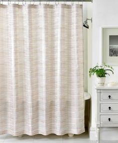 Martha Stewart Collection Segment Stripe Shower Curtain | macys.com