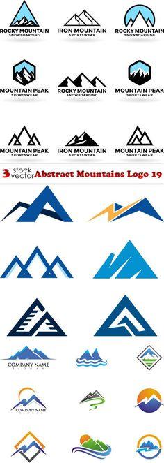 Vectors - Abstract Mountains Logo 19