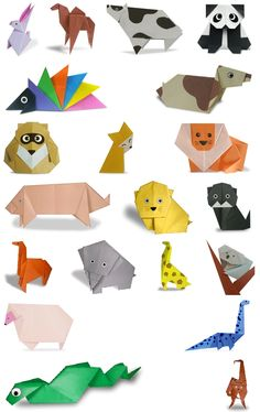 Origami animals to make with my brother :)