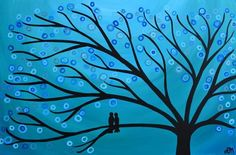 Teal Two Birds in a Tree