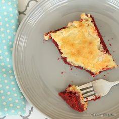 Red Velvet Cream Cheese Gooey Cake Recipe
