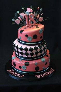 18th birthday cake by Priscillas Cakes CakesDecorcom cake