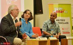 Ralph Moellers, Samina Mishra and Nury Vittachi at Jumpstart-14, Bangalore (photo - Jim Ankan Deka)   More - http://www.musicmalt.com/2014/08/jumpstart-2014-bangalore.html