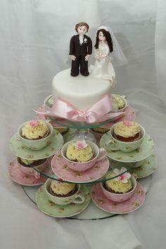 Tea cup cupcakes - wedding