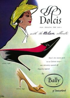 Dolcis and Bally Shoes, Vogue UK February 1957