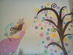 Mural Decorativo Pintado a Mano !!! Princes y Multicolores... Holly Art (Facebook)
