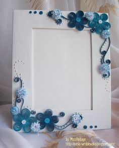 love the colors Quilling Photo Frames, Quilling Letters, Paper Quilling Cards, Neli Quilling, Paper Quilling Designs, Quilling Paper Craft, Quilling Flowers, Paper Flowers, Paper Crafts