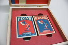 Fan of the Pixar animation studio? Well, designer Chris Anderson has created a box containing two packs of playing cards that includes many identifiable characters form the popular Pixar films. Playing Card Box, Playing Card Games, Kids Playing, Feelings Games, Chris Anderson, Style Retro, Animation, Life Pictures, Deck Of Cards