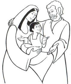 Coloriage Sainte Famille.138 Meilleures Images Du Tableau Jesus Enfant Et A 12 Ans En 2019