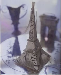 Amazing Paper Eiffel Tower By D. Sharp   Wedding Ring Box!