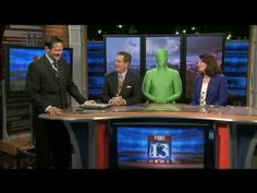 Awesome April Fools on an unsuspecting weatherman! (Doesn't hurt that the person in the green is me!)