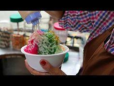 Bangkok Street Food - Shaved Rainbow Ice - YouTube