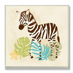 The Kids Room By Stupell Wall Decor, Happy Whimsical Zebra