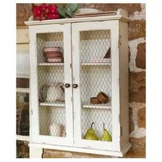 chicken wire cabinet for medicines, bandages etc