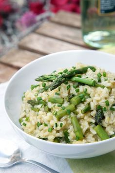 Spring Asparagus Risotto | My regular risotto recipe. I add peas as well.