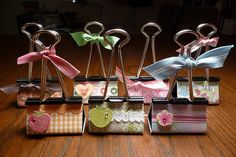 Altered Binder Clips -We glued magnets on back. They make great little picture holders.