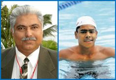 Congratulations - Arvind M and Nihar Ameen!  Arvind M (Swimmer) and Nihar Ameen (Swimming Coach) are among the winners of the KOA ( Karnataka Olympic Association) Award 2015  They will be honoured by Governor Vajubhai Vala on 16th December at Raj Bhavan .  #SwimIndia