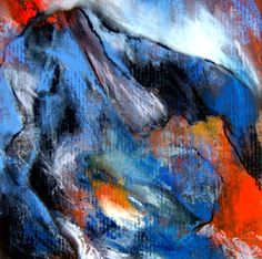 MOUNTAIN FIRE, 2012, oil and mixed media on cardboard, 10x10in, framed 15x15 in