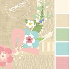 Decorazones.es _Orla de flores, espigas y encaje para el fondo de los recordatorios de comunión