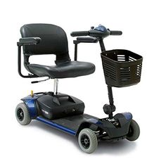 Pride Mobility  GoGo Elite Traveller  Lightweight Travel Scooter  4Wheel  Blue *** Details on product can be viewed by clicking the image