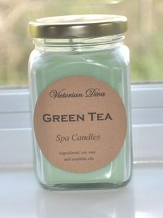Green Tea Soy Candle | Victorian Diva